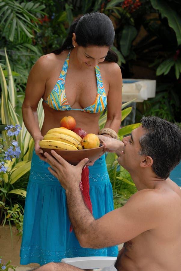 Couples tropicaux. photographie stock