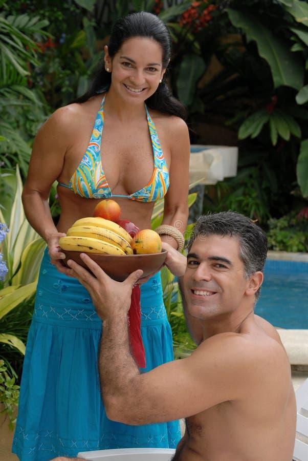 Couples tropicaux. photo libre de droits
