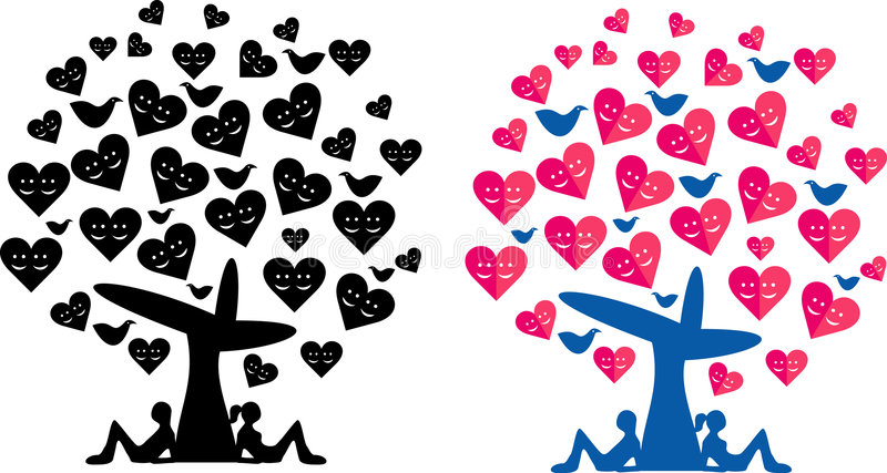CoupleTreeLove libre illustration