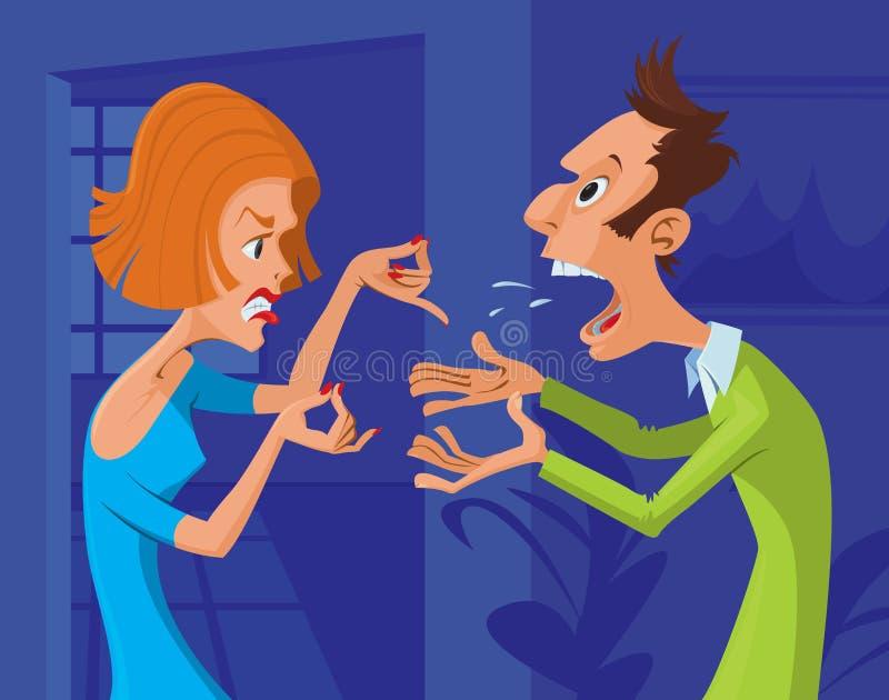 Couplez le conflit illustration stock