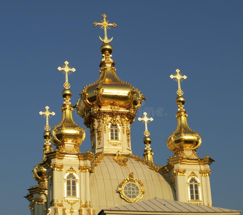 Coupole russe d'église orthodoxe images libres de droits