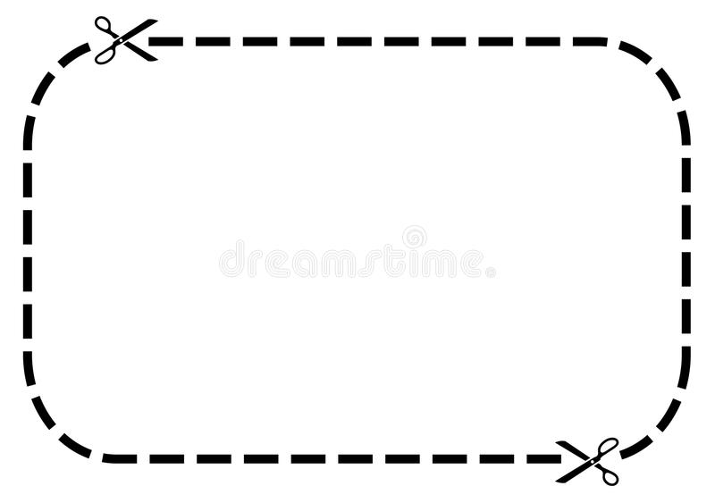 coupon border stock vector illustration of advertising 16424517 rh dreamstime com Coupon Border Clip Art Blank Coupon Template