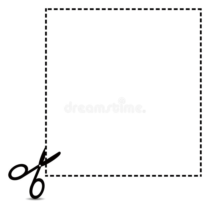 Coupon Clipping Outline royalty free illustration