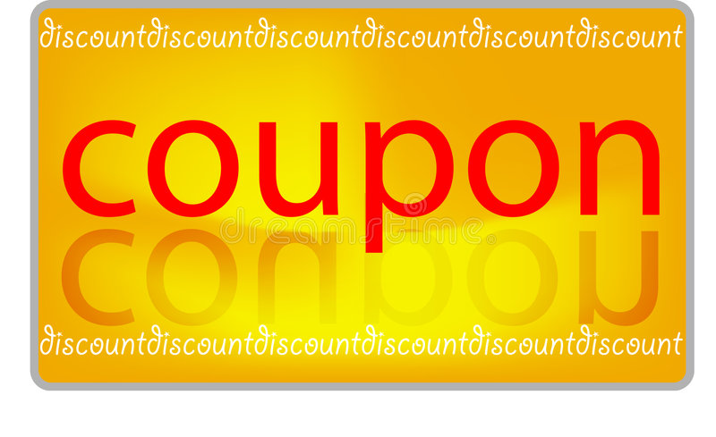 Coupon discount royalty free illustration