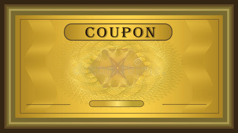 Download Coupon gold frame stock vector. Illustration of award - 18301978