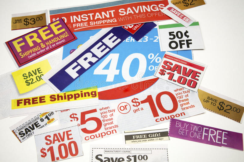 Coupon Offers stock photo