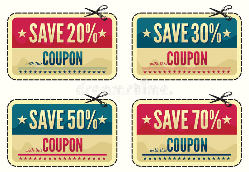 Coupon sale collection vector illustration