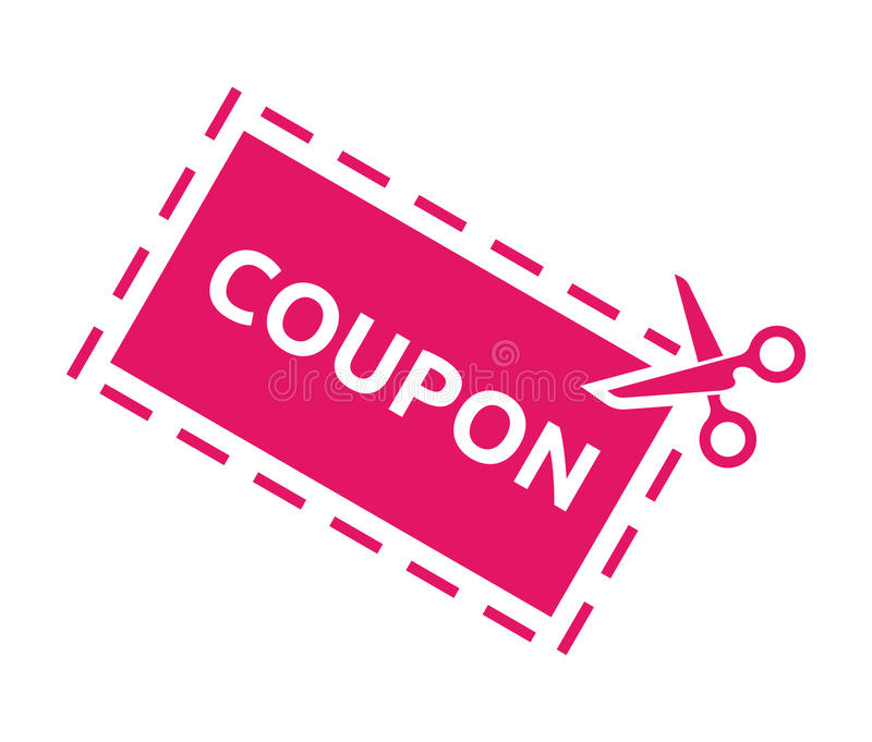 Coupon sale royalty free illustration