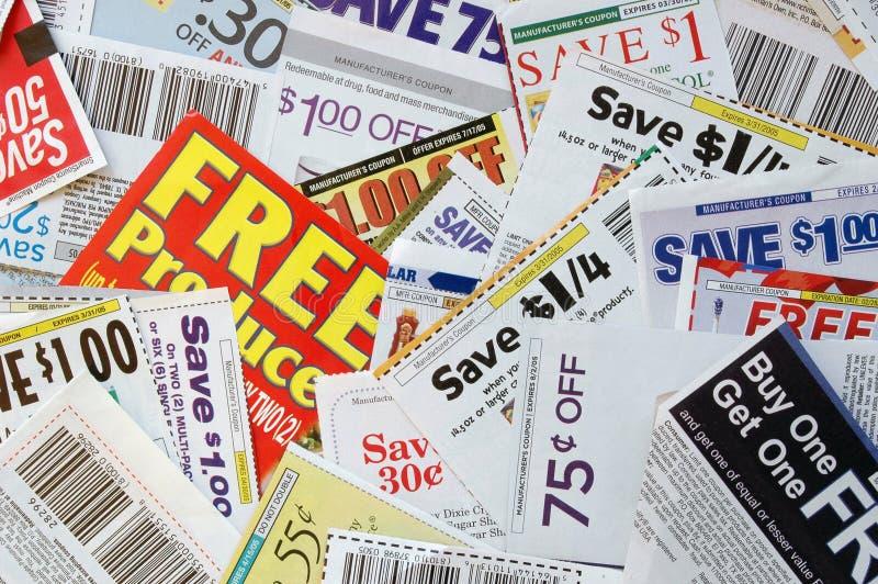 Coupon Savings Stock Image