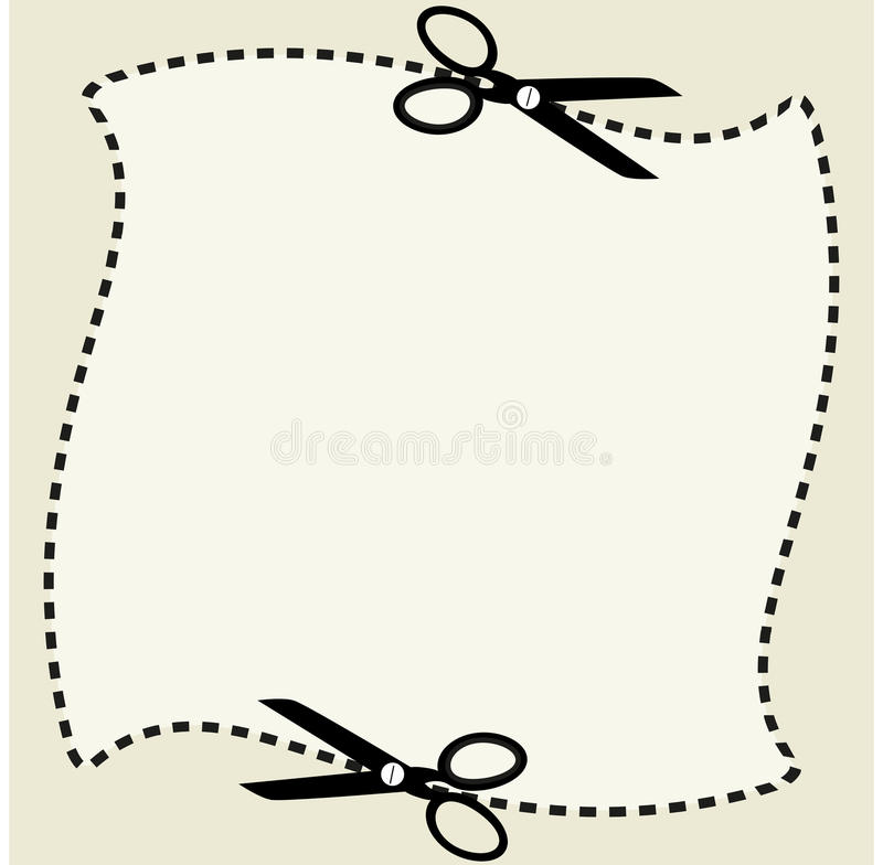 coupon shape with scissors stock vector image 41618013. Black Bedroom Furniture Sets. Home Design Ideas