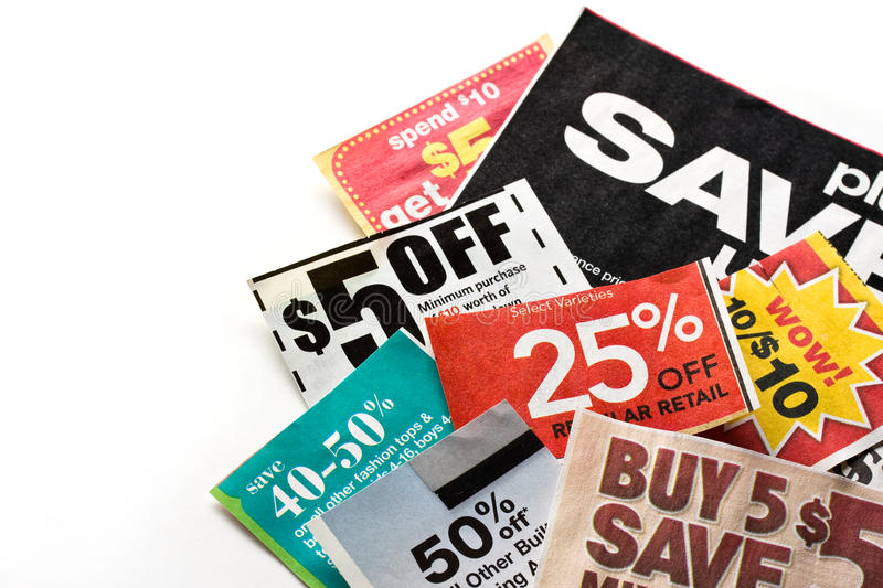 Coupons stock photography
