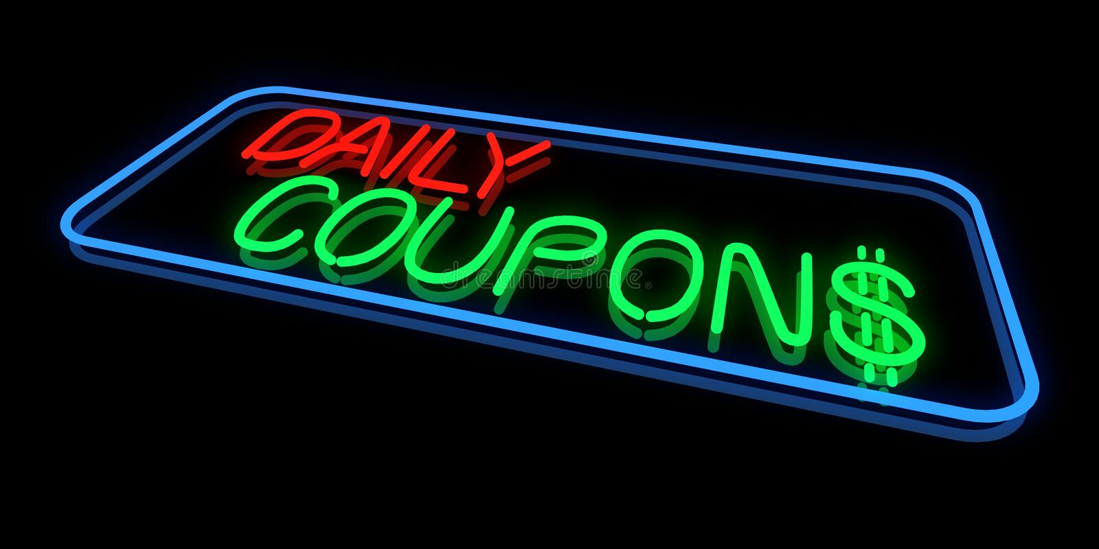 Daily Coupons vector illustration