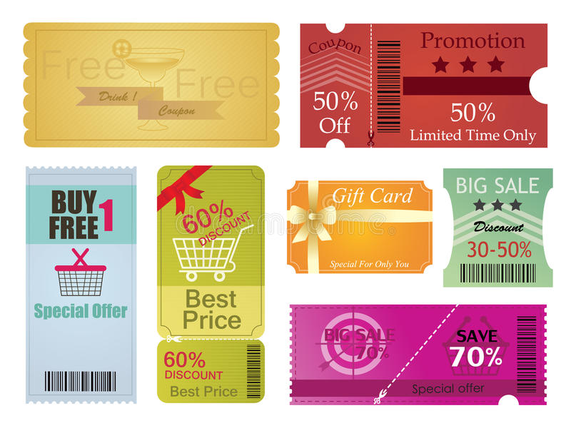 Wonderful Download Coupons And Gift Card Design Stock Vector   Illustration Of Paper,  Gift: 47720916  Coupons Design Templates