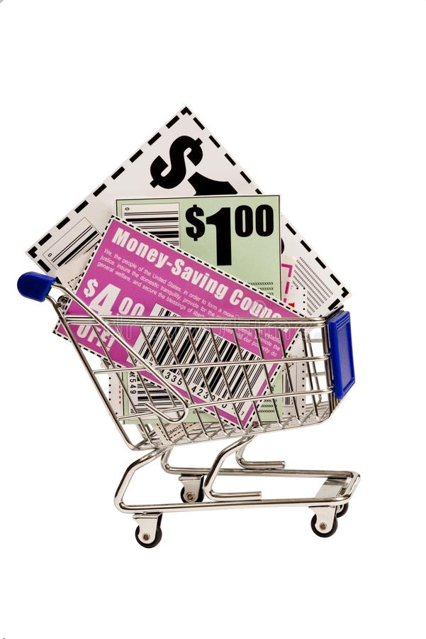Download Coupons In Shopping Cart Stock Photo - Image: 28552660