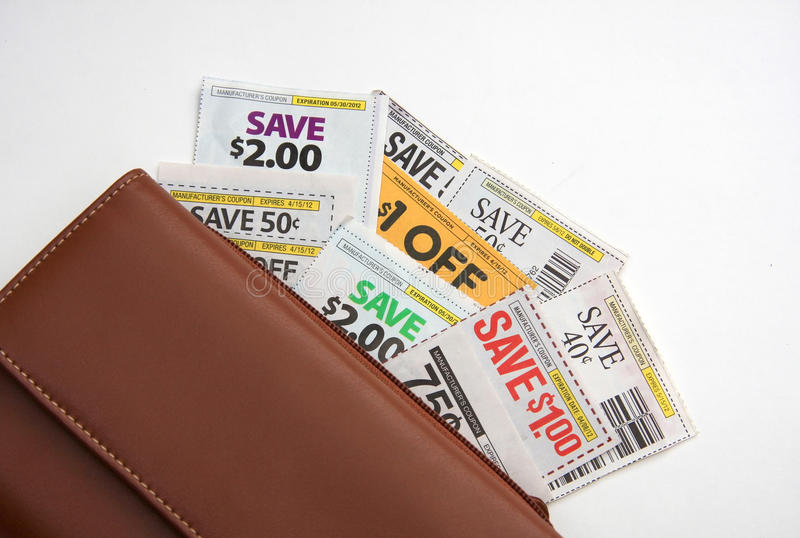 Download Coupons and wallet stock image. Image of money, deal - 23846239