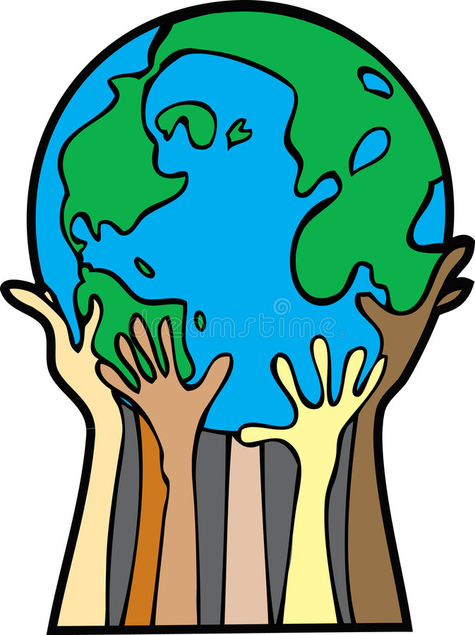Coups de main pour le monde illustration de vecteur