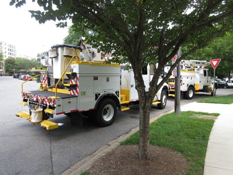 Coupure électrique dans le Washington DC images libres de droits