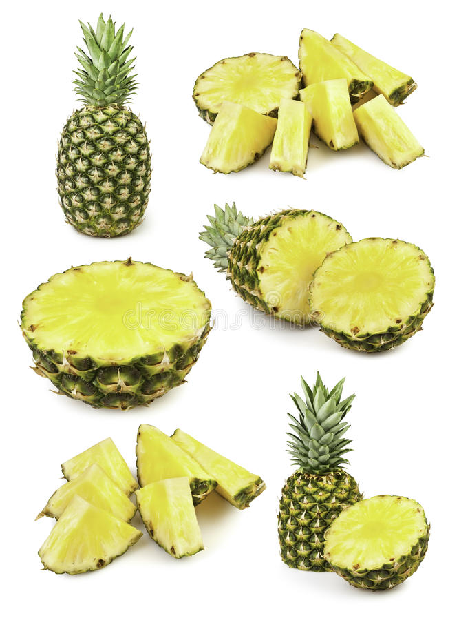 Coupure d'ananas photo stock