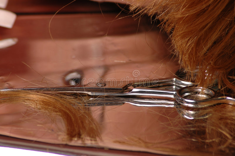 Coupure de cheveu photos stock