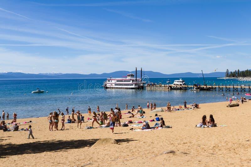 Coupure de ressort, le lac Tahoe images libres de droits