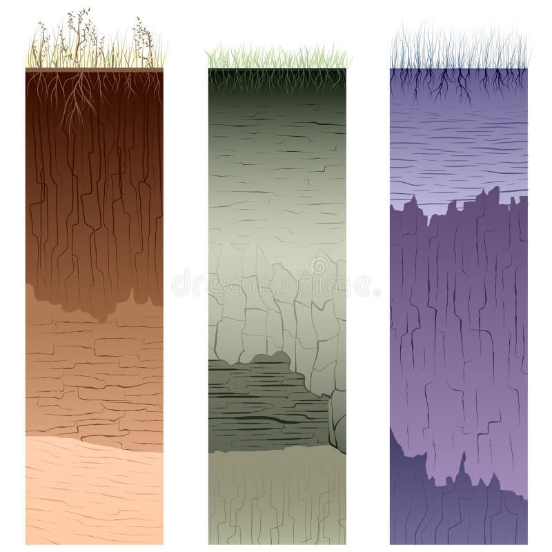 Coupure des fléaux de saleté (profil). illustration libre de droits