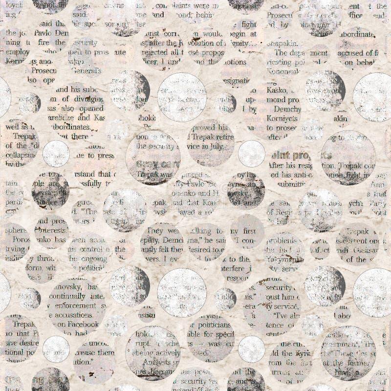 Coupures de collage de journal avec le texte mélangé images libres de droits