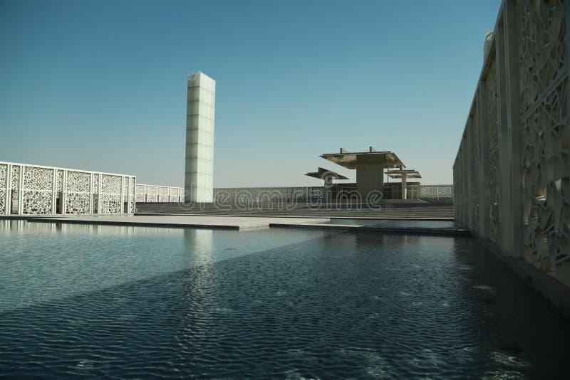 Cour cérémonieuse dans la ville d'éducation dans Doha, Qatar photos stock