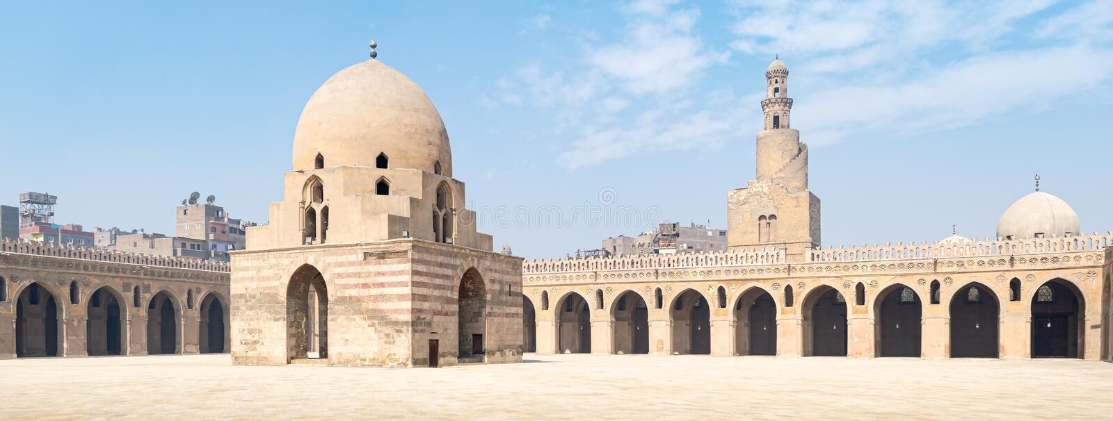 Cour d'Ibn Tulun Mosque image stock