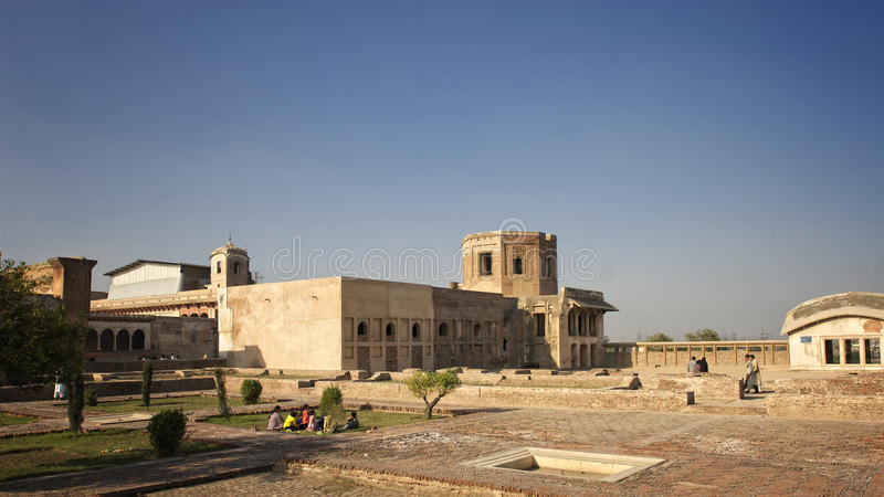 Cour dans le fort de Lahore photos libres de droits