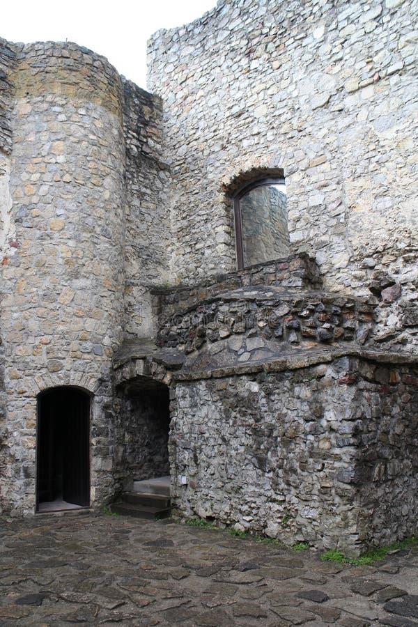 Cour de  de StreÄ aucun château dans la région d'ilina de ½ de Å photographie stock