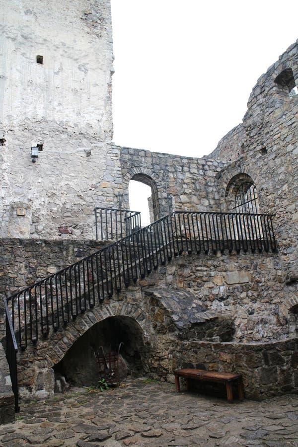 Cour de  de StreÄ aucun château dans la région d'ilina de ½ de Å photographie stock libre de droits