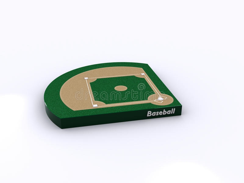 Cour de base-ball illustration libre de droits