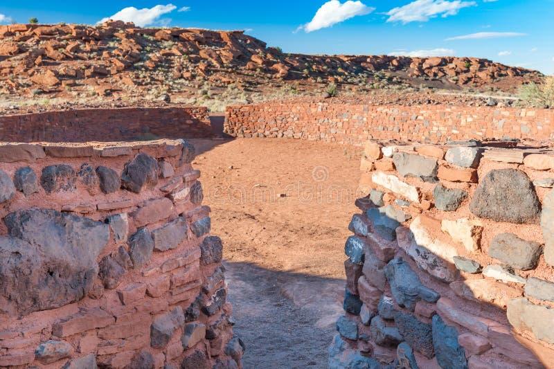 Cour de boule, monument national de Wupatki, AZ, USA images libres de droits