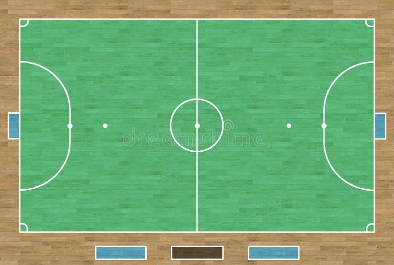 Cour de Futsal illustration de vecteur