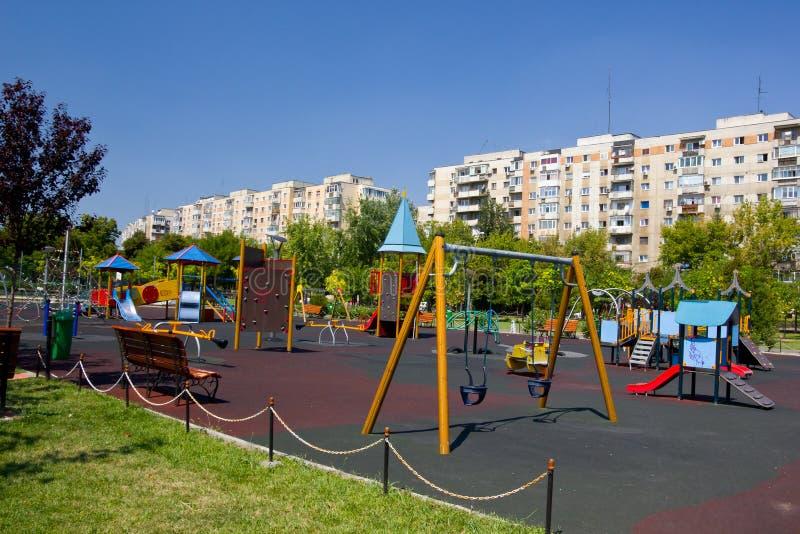Cour de jeu à Bucarest image stock