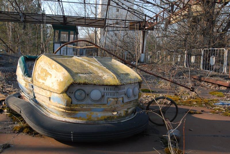 cour de jeu d'enfants de chernobyl photographie stock libre de droits