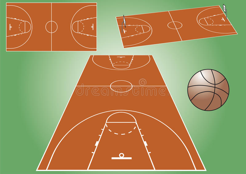 cour de jeu de basket-ball illustration stock