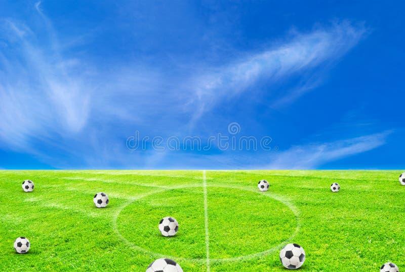 Cour de jeu du football illustration de vecteur