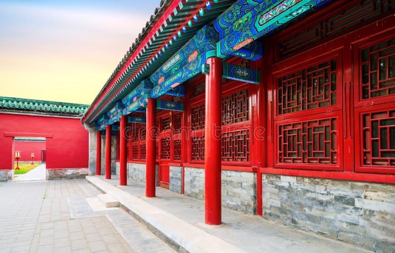 Cour de Pékin dans Qing Dynasty images libres de droits