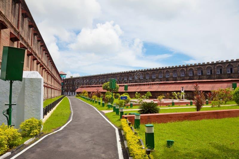 Cour de prison de Port Blair images libres de droits