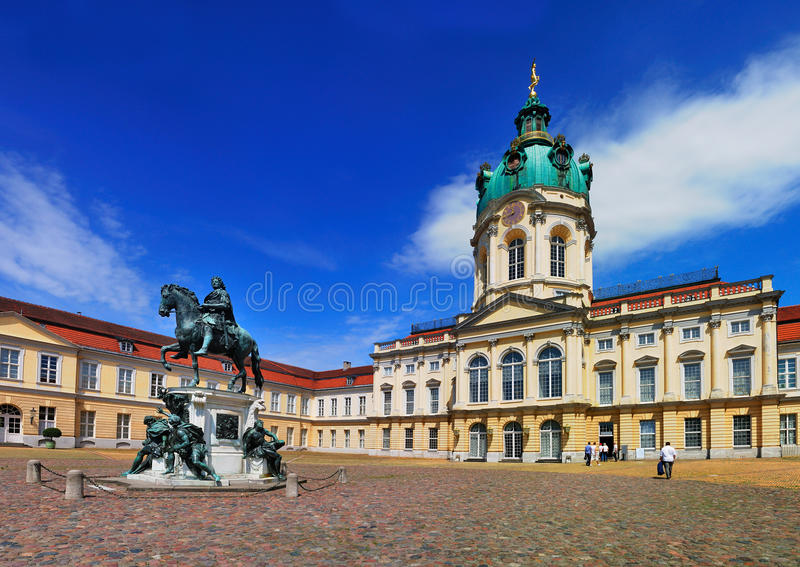 Cour de Schloss Charlottenburg photo stock