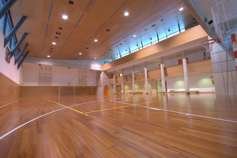 Cour de sport - d'intérieur photographie stock libre de droits