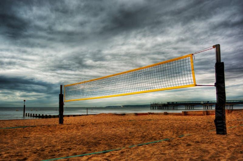 Cour de volleyball de plage HDR images libres de droits