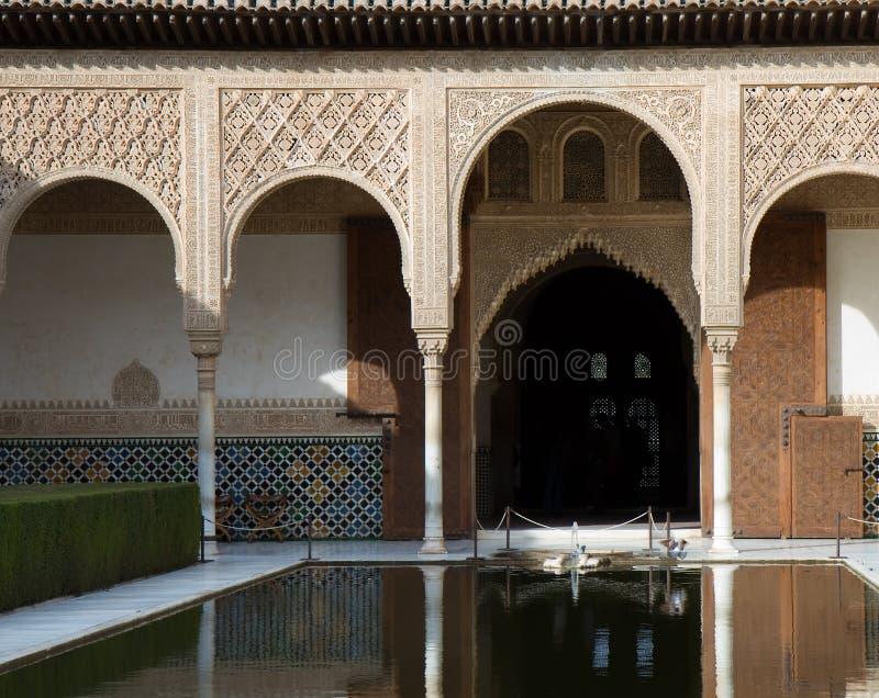 Cour des myrtes à Alhambra photo stock
