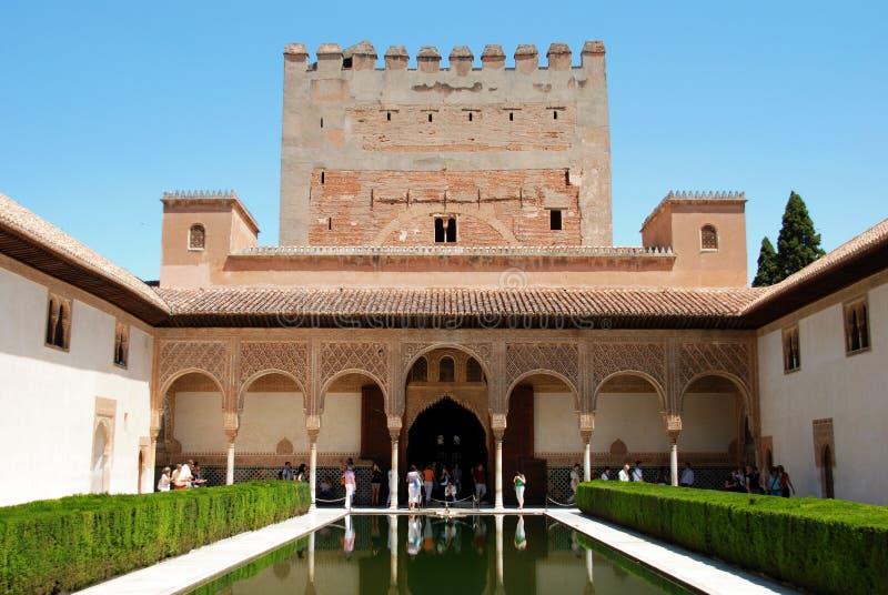 Cour des myrtes, Alhambra Palace images libres de droits