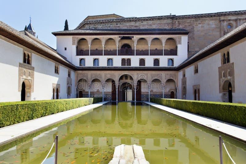 Cour des myrtes, Patio de los Arrayanes, à Alhambra, G image libre de droits