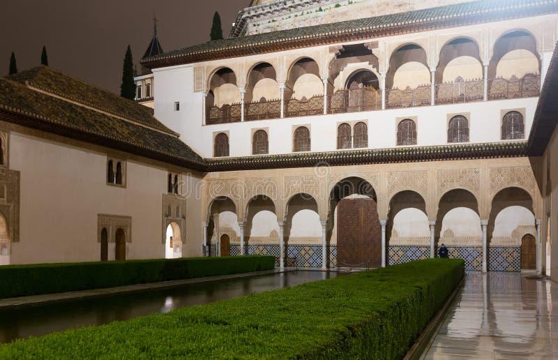Cour des myrtes (Patio de los Arrayanes), Alhambra images libres de droits
