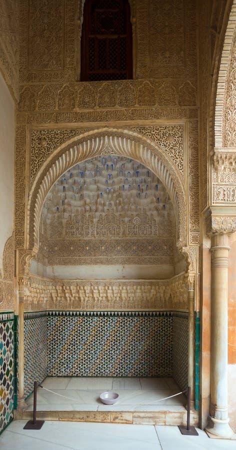 Cour des myrtes (Patio de los Arrayanes), Alhambra photo stock