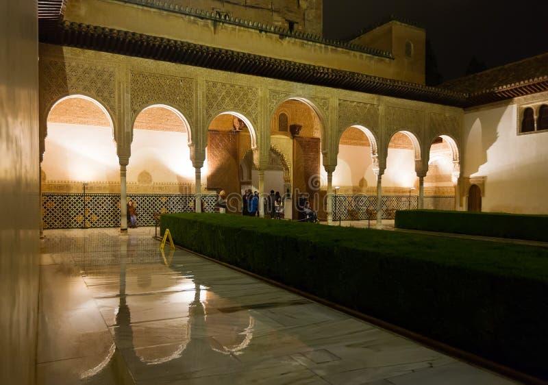 Cour des myrtes Patio de los Arrayanes, Alhambra image libre de droits