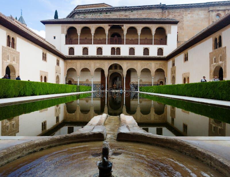 Cour des myrtes (Patio de los Arrayanes) dans le temps de jour chez Alha image libre de droits